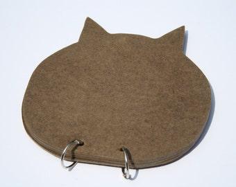 Handmade Blank Kitty Cat Wooden Album