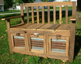 YOUR made to order Custom Rustic and Reclaimed Barn Wood Bench