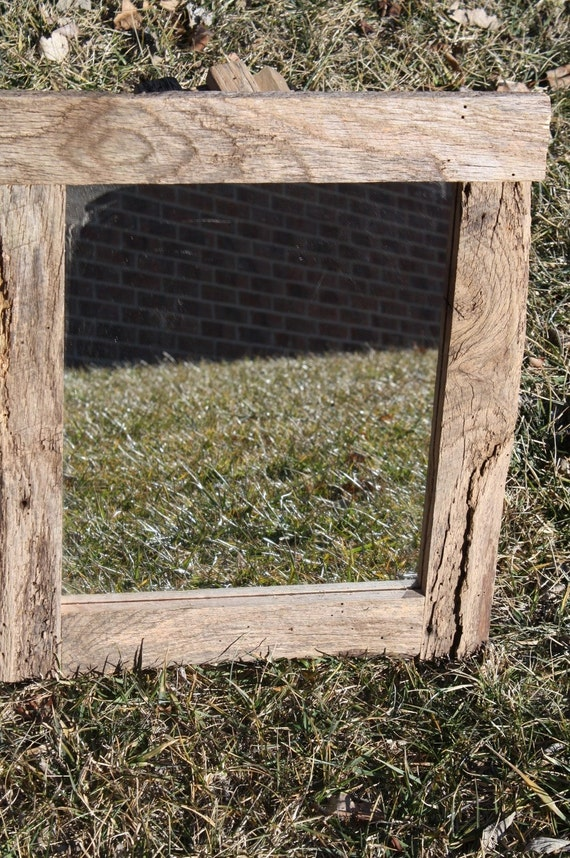 Barn Wood Mirror Rustic Home Decor: Recliamed Barn Wood Wall Mirror