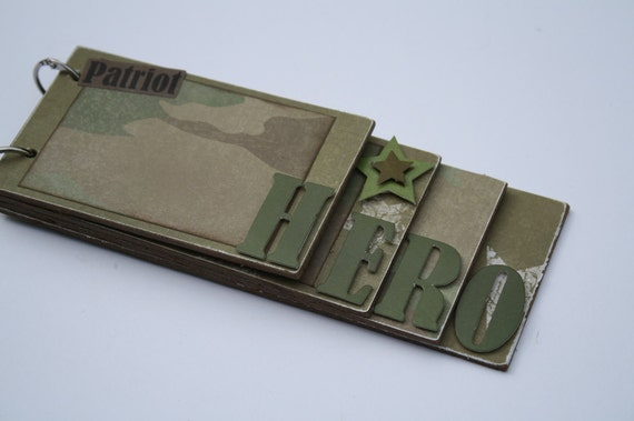 Military Hero Wooden Album