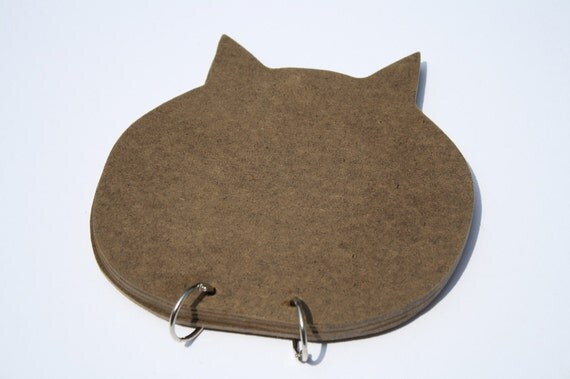 Handmade Blank Kitty Cat Wooden Album