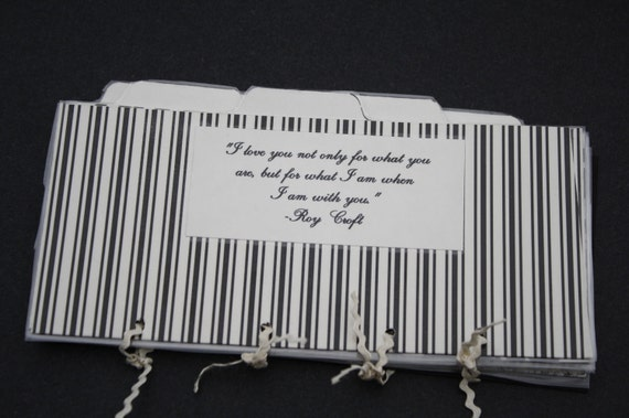 Black and Ivory French Country Envelope Budget System With 6 Envelopes Perfect for Your Wallet
