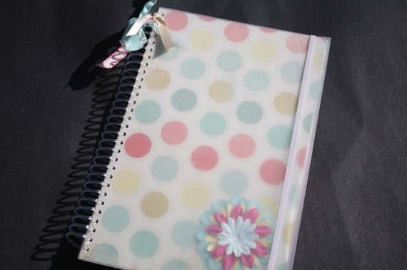 Bill Organizer - Blue and Pink Polka Dots with Bible Verses