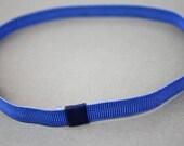 Denim Blue Thin Grosgrain Stretch Headband