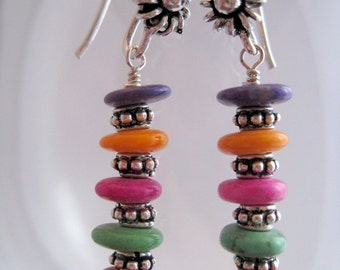 Colorful Magnesite Earrings