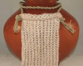 Knitted Bamboo Hippy Bag Beige