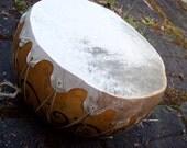 Kettle Style Hand Painted Gourd Shaman Drum Custom Art