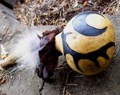 Cernunnos, Horned Lord- Gourd Shaman Rattle