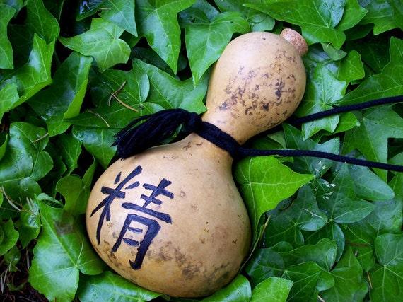 Bottle Gourd Hulu Hyotan Sake Bottle Usable Natural Canteen 3 Treasures