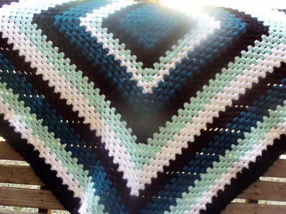 Tantalizing Teal blanket goodness-Free shipping