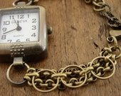 Gold Watch Antiqued Gold Free Shipping