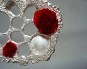Summer s Song I  -  Silver and Hand Embroidery Artistic Brooch