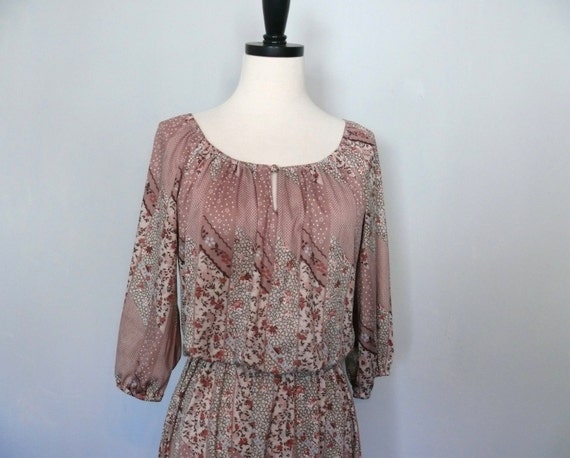 ON HOLD vintage 1970s Dress  // Prairie Wind Dress // Bohemian Floral