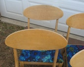 RESERVED Listing --Vintage  Chairs -SALE Priced - 1950's  Modern Mid Century Style  -- Custom paint available