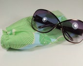 Blue and Green Optic Bloom Glasses or Sunglasses Pouch