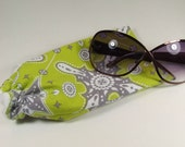Lime Green Glasses or Sunglasses Pouch
