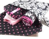Delux Hot Pink Damask Baby Shower Gift Set