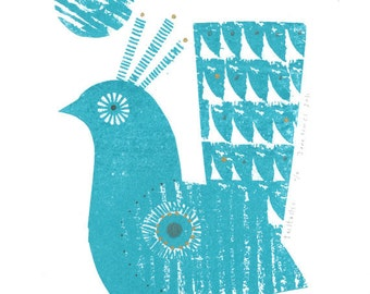 Tailtastic gocco print by Jane Ormes