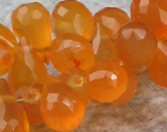 Baby Carnelian Faceted Briolettes