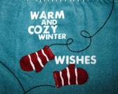 Hanging Towel with Winter Mittens