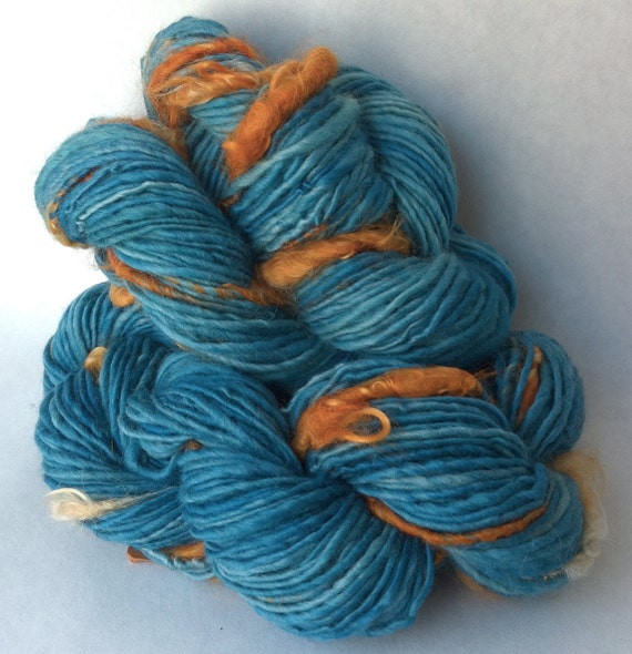 Cheap Thrills - handspun yarn, natural novelty yarn