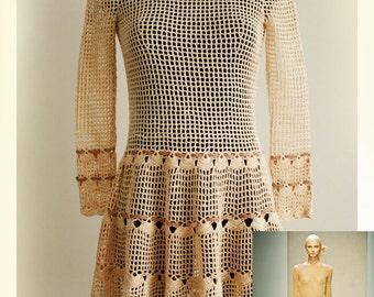 Women's dress / Crochet  Pattern No 555