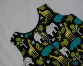 SALE 9-18 month sleep sack in Lagoon Zoo animals