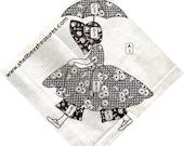 Sunbonnet Sue-Umbrella Girl Applique Quilt Pattern Vintage 721001