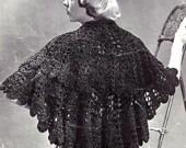 Stunning Lacy Stole Shawl Crochet Pattern Vintage 723073