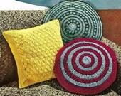 Three Pillows Crochet Pattern Vintage 723080