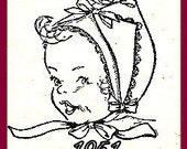 Baby Bonnet Handkerchiefs Sewing Pattern Instructions Vintage 727002