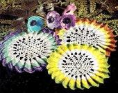 Sunburst Trio Doily Crochet Pattern 723106