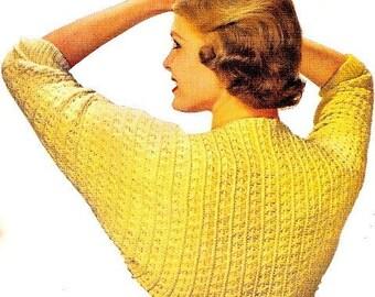 Classic Shrug Crochet Pattern Vintage 723013
