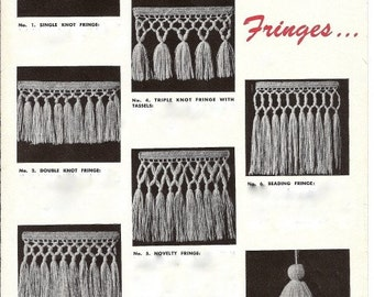 Fringes and Tassels - How to Make Them - 722001