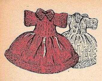 Doll Dress Knitting Pattern -1957- Vintage - 726004
