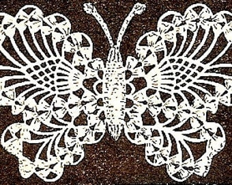 Butterfly Applique Crochet Pattern Vintage - 723028