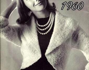 Shrug Jacket Knitting Pattern Vintage 726038