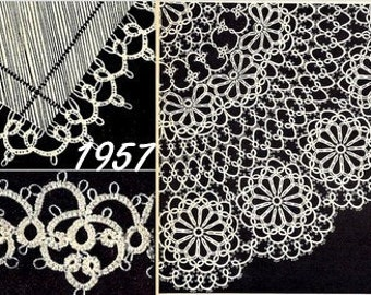 Edgings and Doily (3) Tatting Pattern Vintage 729009