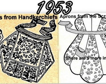 Aprons from Handkerchiefs 3 Patterns plus BONUS 727001