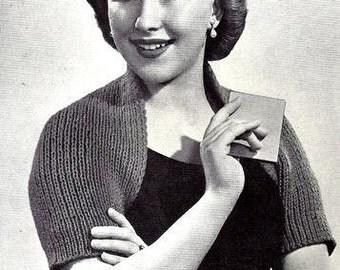 Shoulderette Shrug Knitting Pattern Vintage 726042