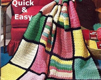 Quick and Easy Afghan Crochet Pattern 723090