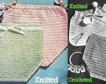Soakers 2 Crochet and 2 Knitting Pattern 7236001