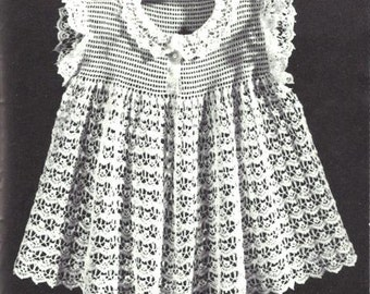 Little Girls Dress Crochet Pattern Sizes 2 to 6 - 723126