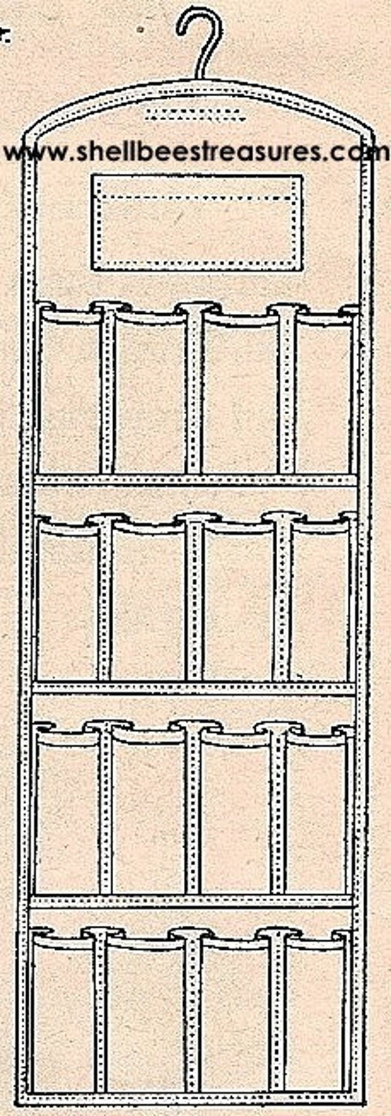 Make Your Own Shoe Bag - Rack Pattern - 1952 - Vintage  EASY to follow instructions - 722003