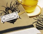 Bee Print Cotton Tea Towel