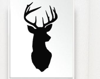 Deer Head Silhouette Patterns deer head silhouette print deer oh deer ...