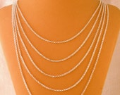 Vintage Style Tiny Silver Plate 5 Chain Necklace Blank