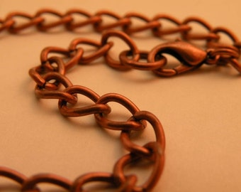 Antiqued Copper Charm Bracelet Blank