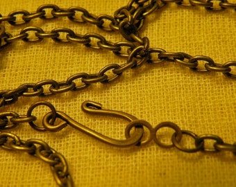 Vintage Style Antiqued Brass Necklace Chain Blank 30 inch 2 pack