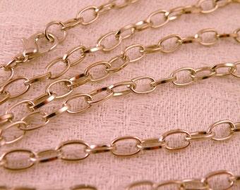 "Silvertone Chunky Oval Chain Long 45"""